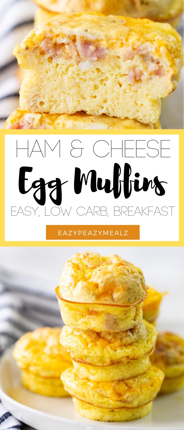 Ham and cheese egg muffins easy low carb breakfast