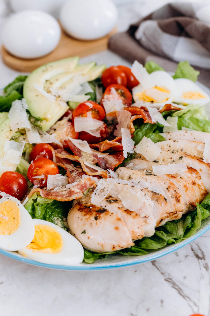 Chicken Avocado Caesar Salad Low Carb Keto Easy Peasy Meals