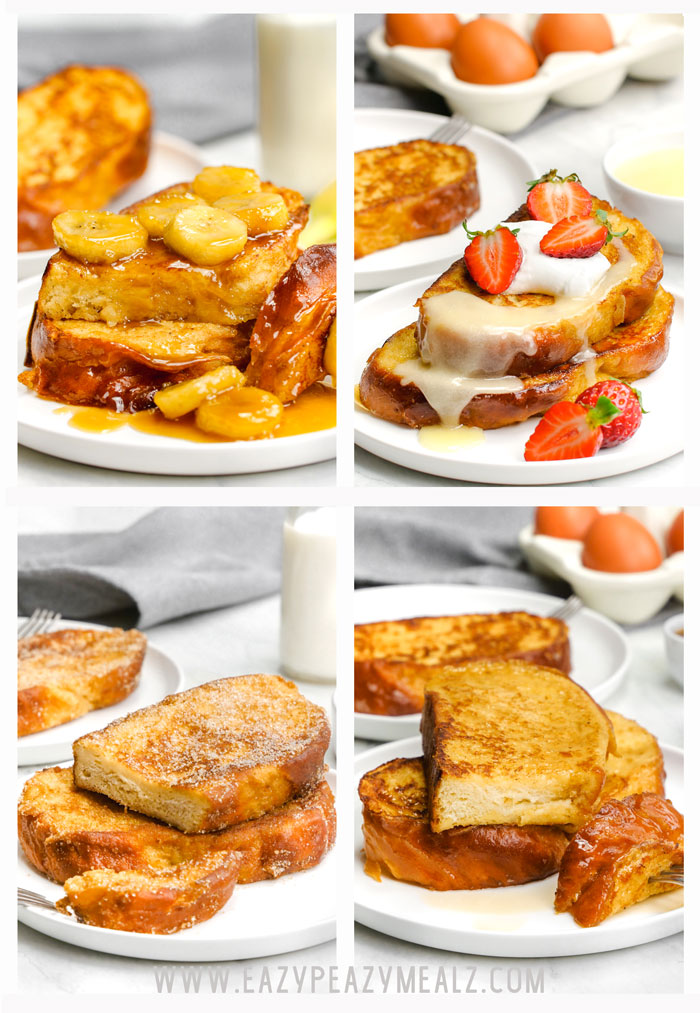 Four versions of a classic french toast