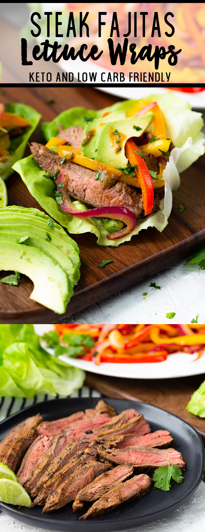 Steak Fajitas lettuce wraps