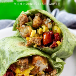 Freezer friendly breakfast burritos, a great high protein breakfast that can be made ahead