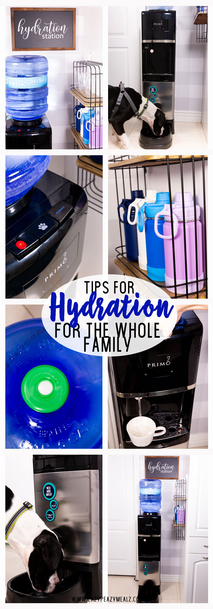 What factors are keeping your family from hydrating properly? Bulk water drinkers drink 25% more water, so here are some tips for better hydration for the whole family, even the fur babies, with Primo Water. #ad #PrimoWater