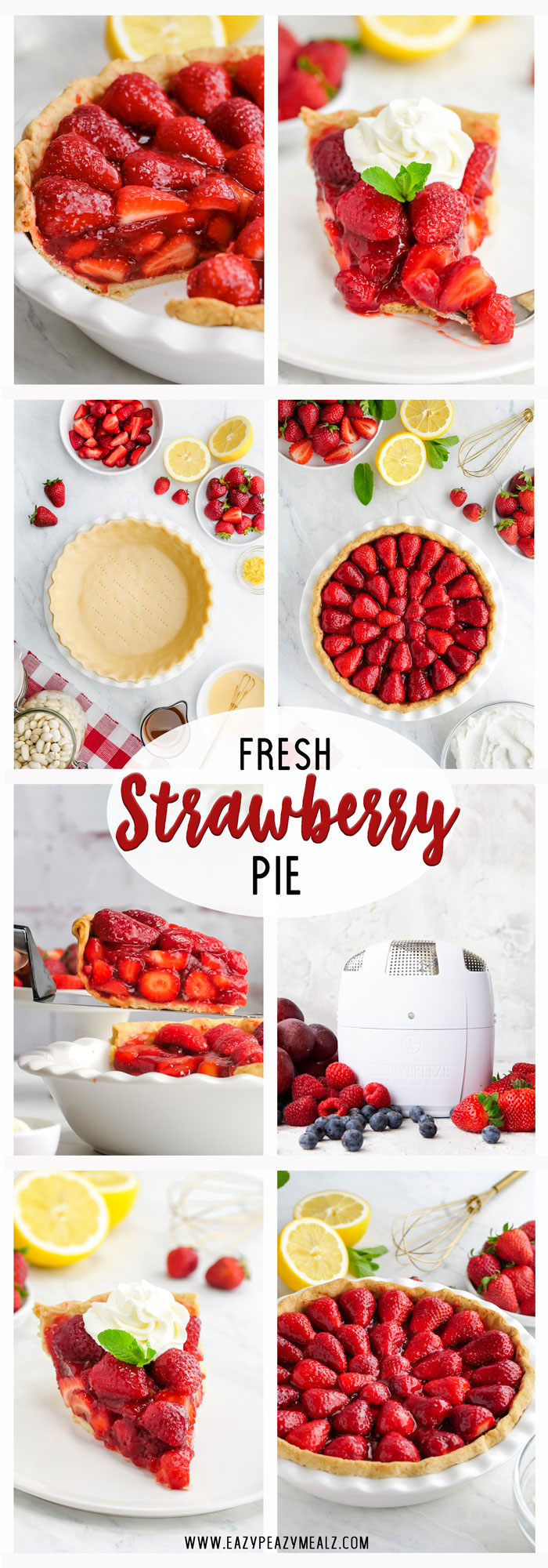A delicious and easy to make strawberry pie